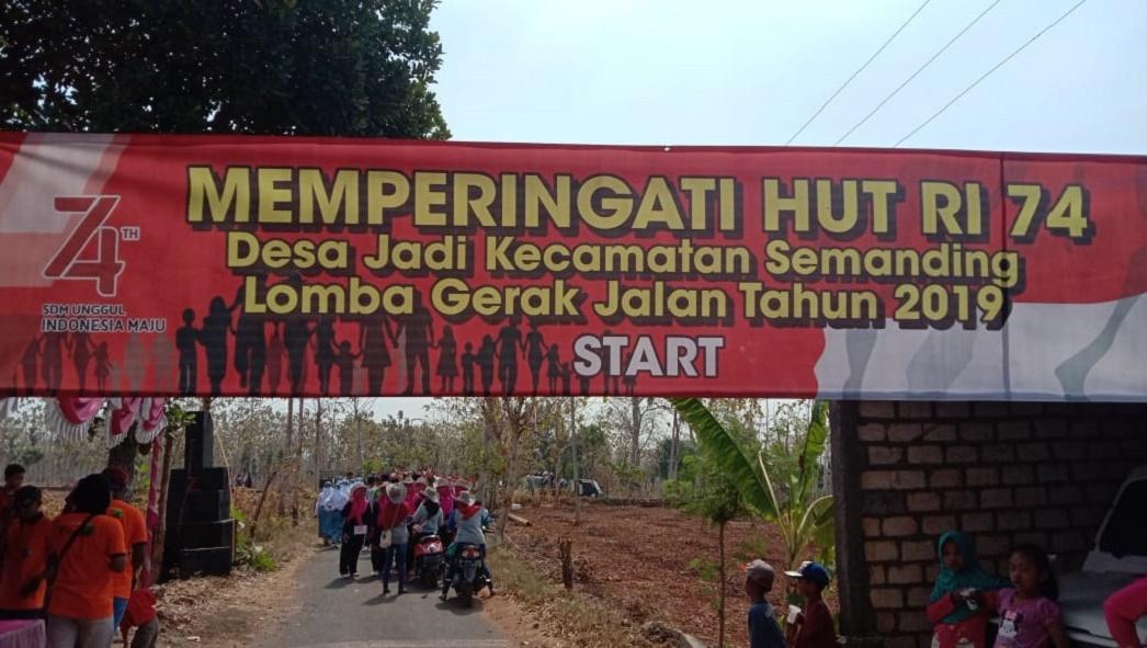 Gerak Jalan Umum Desa Jadi